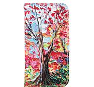 Недорогие -Для Кейс для  Samsung Galaxy Кошелек / Бумажник для карт / со стендом Кейс для Чехол Кейс для дерево Мягкий Искусственная кожа Samsung