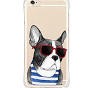 Glass Dog TPU Soft Back Shockproof/Dustproof/Waterproof/Transparent Cover For i6s Plus/6 Plus/6s/6/SE/5S/5
