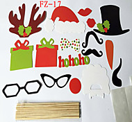 31Pcs Diy Mask Photo Booth Props Mustache On A Stick Wedding Decoration Birthday Event & Party Pictures