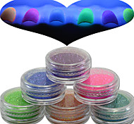 1 Set Nail Art Beautiful Noctilucent Powder Colorful Color Glitter Shining Nail Beauty Decoration YG07-12