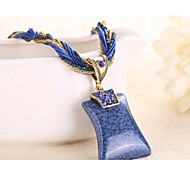Necklace Pendant Necklaces Jewelry Dark Blue / Coffee / Dark Green / Navy / Fuchsia / Black / Pink AcrylicWedding /
