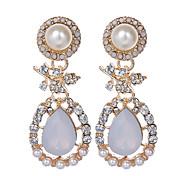 cheap -Women's Pendant Necklace Luxury Vintage Fashion European Pearl Imitation Pearl Rhinestone Gold Plated Imitation Diamond Alloy Geometric