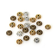 Недорогие -beadia 50шт античное золото&Серебряный&латунь 6x4mm металлическую распорку свободные шарики