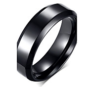 cheap -Men's Stainless Steel / Titanium Steel Band Ring - Party / Casual / Fashion Black Ring For Party / Daily / Casual