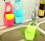 cheap -Single Home Kitchen Bathroom Gadget Hanging Plastic Storage Box(Random Color)