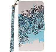 Painted Butterfly Flower Pattern Card Can Lanyard PU Phone Case For Samsung G530 G360 J1 J3 J5 (2016)