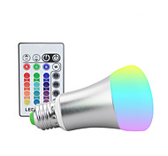 cheap -1100 lm E26/E27 LED Stage Lights ST64 9 leds High Power LED Dimmable Decorative Remote-Controlled RGB AC 85-265V