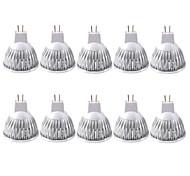 Недорогие -10 шт. 3 Вт. 250-300 lm GU5.3(MR16) Точечное LED освещение MR16 1 светодиоды COB Тёплый белый Холодный белый 12V