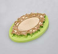 Недорогие -Зеркало форма торт украшение силиконовая плесень мыло ручной работы мыло формы кухня выпечка цвет случайный