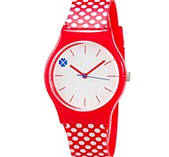 Дети Наручные часы Цветной Кварцевый Plastic Группа В точечку Конфеты Cool Повседневная Красный