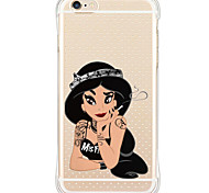 Shockproof/Transparent/Pattern Sexy Lady TPU Soft Case Cover For Apple iPhone 6s Plus/6 Plus/iPhone 6s/6/iPhone 5/5s/SE