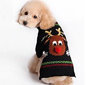 Cat Dog Sweater Christmas Dog Clothes Christmas New Year's Reindeer Black Red Costume For Pets
