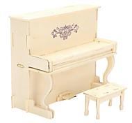 Недорогие -3D пазлы Деревянные пазлы Наборы для моделирования Модель дерева Игрушки Пианино 3D Своими руками моделирование Дерево Куски