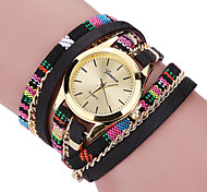 Women's Cool Quartz Fashion Casual Watch Multi-colored Fabric Belt Personality Bracelet Round Dial Watch Unique Watch