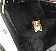Собака Чехол для сидения автомобиля Животные Коврики и подушки Однотонный Водонепроницаемость Складной Черный Коричневый Для домашних