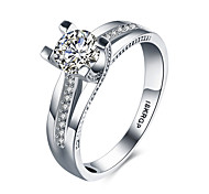 cheap -Women's Sterling Silver / Zircon / Cubic Zirconia Heart Statement Ring / Band Ring - Love / Fashion White Ring For Wedding / Party /