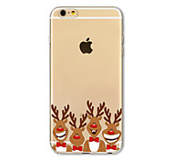 Back Cover Translucent Pattern Christmas Deer TPU Soft Case Cover For AppleiPhone 7 7 Plus iPhone 6 6 Plus iPhone 5