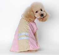 Cat Dog Rain Coat Dog Clothes Waterproof Solid Blue Pink Costume For Pets