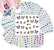 cheap -50PCS Different Styles Fashion Flowers pattern Nail Art Water Transfer Stickers
