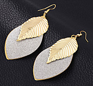 cheap -High Quality Beautiful Women's Retro Boho Gold Plated Alloy Leave Hook Dangle Earrings For Party