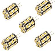 cheap -YouOKLight 5pcs 3000/6000 lm G4 LED Bi-pin Lights T 27 leds SMD 5050 Decorative Warm White Cold White DC 12V