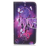 PU Leather Material Butterfly Campanula Pattern Painted Phone Sets for Samsung Galaxy J510 J5 J310 J3