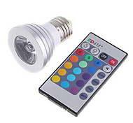 3W E26/E27 LED Smart Bulbs MR16 1 High Power LED lm RGB 3000+RGB(K) K Dimmable Remote-Controlled AC 85-265 V