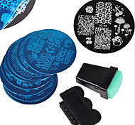 10PCS Nail Art Stamping Image Template Plates + 2 PCS Nail Art Stamping Printer