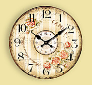 1PC Contemporary Sitting Room Wall Clock Modern Mute  Quartz Clocks And Watches(Pattern is Random)