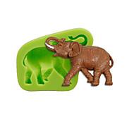 Животное слон силиконовая форма торт украшение сахара инструменты инструменты полимерная глина fimo fondant сделать цвет случайный