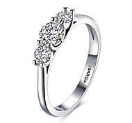 preiswerte -Damen bezaubernd Sterling Silber / Zirkon / Kubikzirkonia Statement-Ring / Bandring - Personalisiert / Luxus / Böhmische Weiß Ring Für