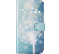 Card Holder Wallet Pattern Green Dandelion PU Leather Case For iPhone 7 7 Plus 6s 6 Plus SE 5s 5