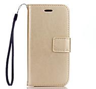 PU Leather Material Plain Solid Color Phone Cases for iPhone 7 Plus/7/6s Plus / 6 Plus/6S/6/SE / 5s / 5