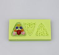 Flowers shape triangle silicone products silicone baking mold fondant cake decorating tools Color Random