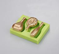 Недорогие -форма силиконовой формы для пищевых продуктов для украшения тортов fondend mold baking ramdon color