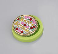 красивый круглый форма помадный торт украшение силиконовая форма ручной работы мыло плесень ramdon цвет