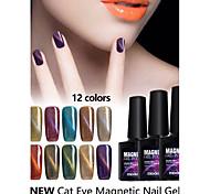 cheap -Nail Polish UV Gel  10ml 1 Magnetic Cat Eye Soak Off Glitters UV Color Gel Classic Shimmering Jelly Neutral Soak off Long Lasting  Daily