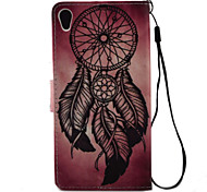 For Sony Xperia X XA Case Cover Dreamcatcher Pattern Painting PU Leather Material Card Stent for XP XZ