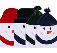 1шт милый снеговик картины крышка стула не тканый вечеринка стул рождественский ужин охватывает множество рождественские украшения