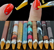 cheap -1PCS Manicure Tools With Sticky Point Drill Color Random