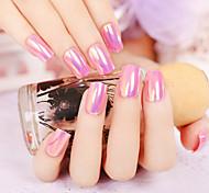 24pcs / комплект ногтей полосы многократных отражений целлофан эффект сладкий моде