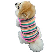 cheap -Cat Dog Shirt / T-Shirt Vest Dog Clothes Stripe Rainbow Cotton Costume For Pets Men's Women's Cute Casual/Daily Holiday Birthday