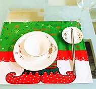 горячий househould рождественские новые эльфы печать стол коврик стол коврик Рождественский стол Placemats коврик столовая комната