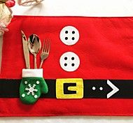 1Pc Christmas Table Mats & Gloves Knife Fork Bags Christmas Home Supplies Desktop Decorations Best Gift For Christmas