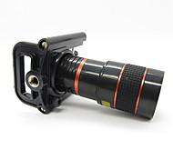 Недорогие -Универсальный 8X телеобъектив с Всеобщей металлической клипсой для мобильного телефона - красный + черный