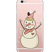 cheap -Christmas Pattern TPU Ultra-thin Translucent Soft Back Cover for iPhone 7 7Plus 6s 6 Plus 5s 5 5E