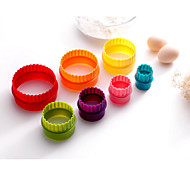 7PCS Cozimento Bricolage / Ferramenta baking Biscoito Plástico Formas de Cupcake e Muffin