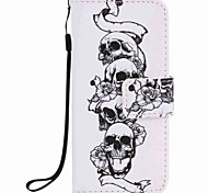 Skull Painting PU Phone Case for apple iTouch 5 6 iPod Cases/Covers