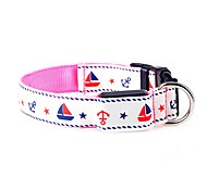 cheap -Dog Collar Adjustable / Retractable Cartoon Nylon Red Green Blue Pink Rainbow