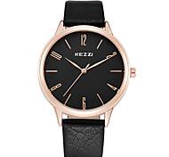 cheap -KEZZI® Couple's Fashion Quartz Casual Watch Men's/Women's Dress Watch Simple Leather Belt Round Alloy Dial Wrist Watch Cool Watch Unique Watch